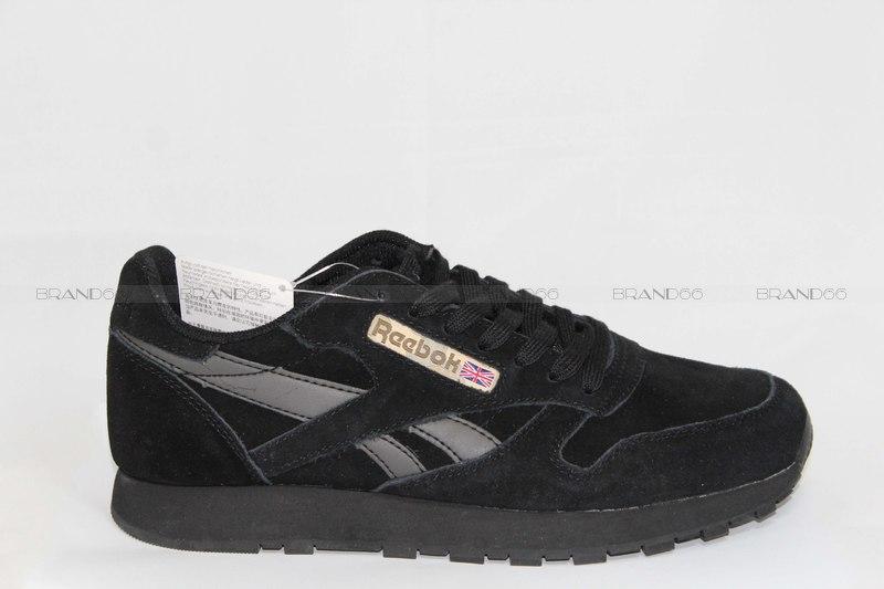 b509a331e Кроссовки Reebok Classic Leather Suede Black/Grey купить в ...
